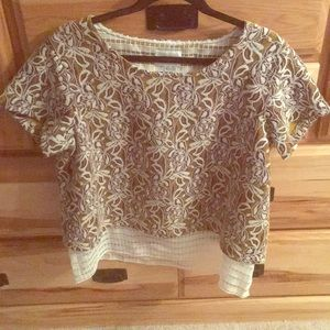 Golden Embroidered Blouse XL Atelier Camille